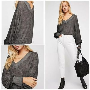 PREORDER Free People Southside Thermal Black S $68